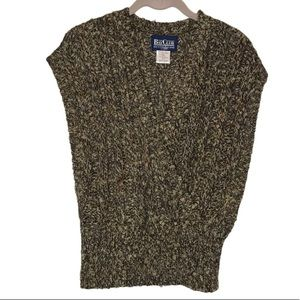 Bay Club Vintage Knitted Faux Wrap Sweater Vest